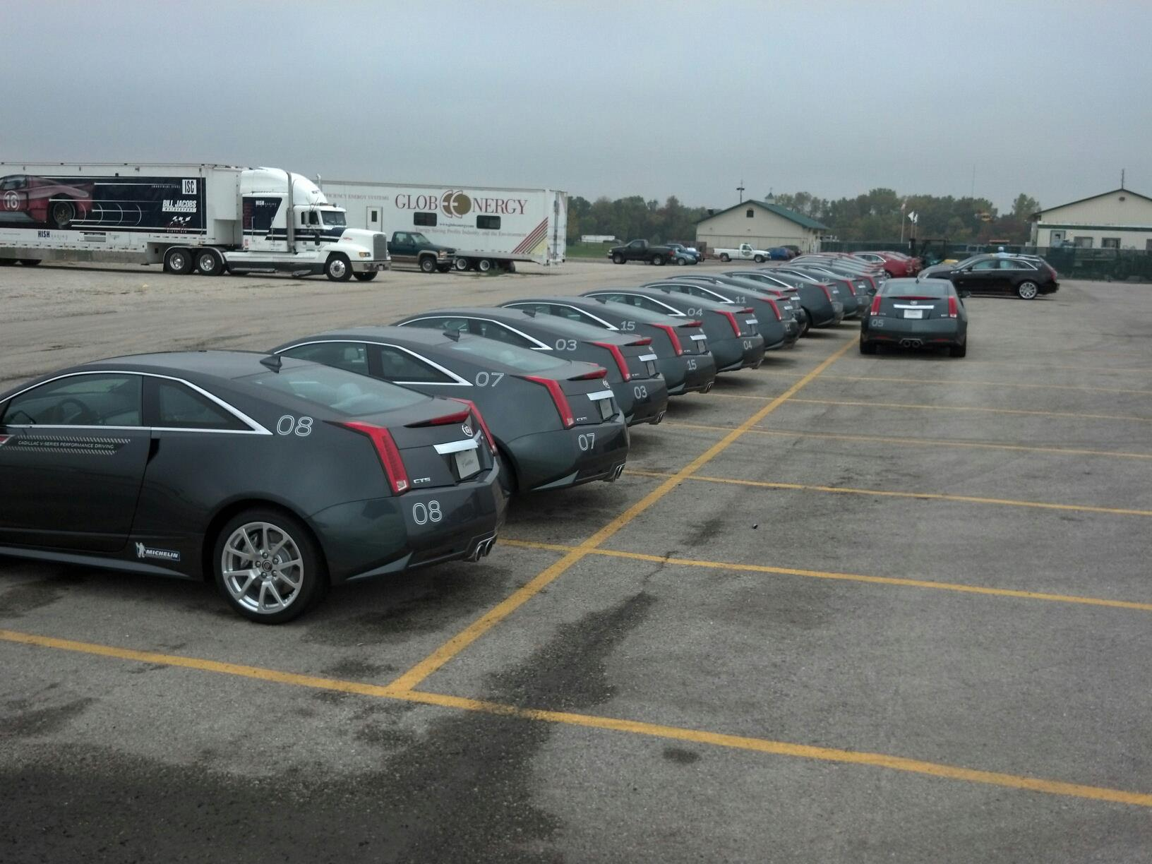 60 + Cadillac CTS-V event
